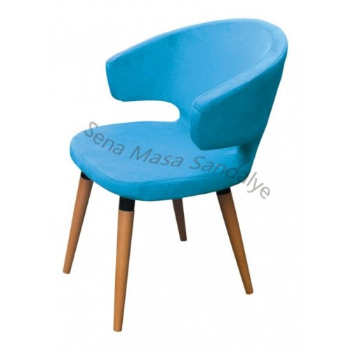 ABB05 Mavi Ahşap Sandalye