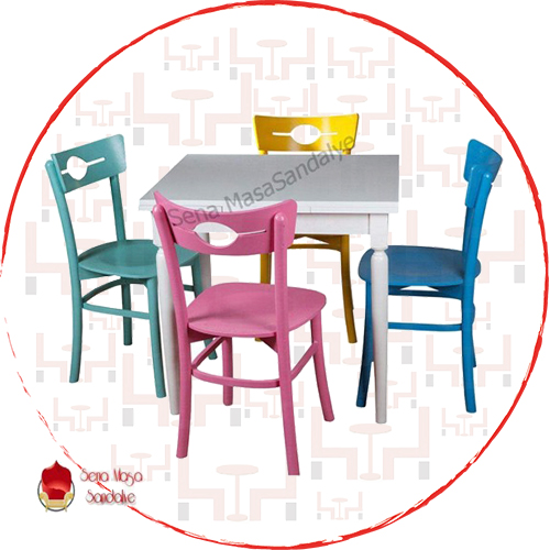 ATS01 Ahşap Masa Sandalye Takımı