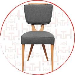 Gri Ahşap Sandalye AS27