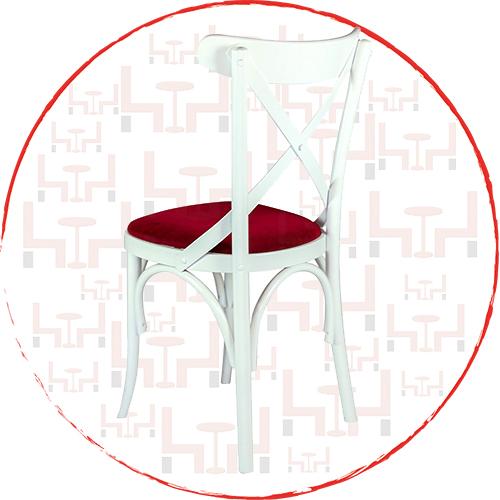 Beyaz Tonet Sandalye BK54