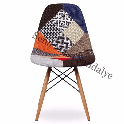 ABB01 Lüks Ahşap Sandalye Modeli Patchwork