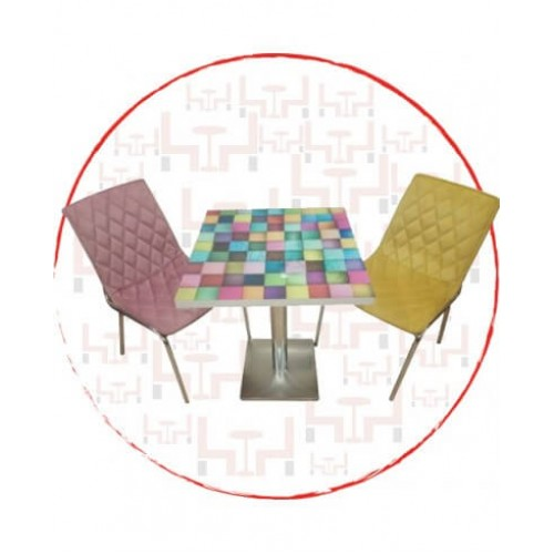 CMT08 Renkli Cafe Masası